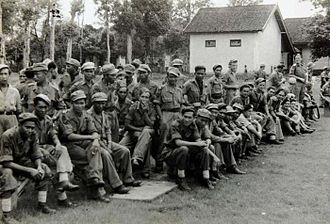 """Netherlands Indies Civil Administration - """"NICA"""" troops 1947."""