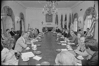 Brock Adams - Adams at Cabinet Meeting