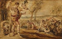 Peter Paul Rubens: Cadmus sowing dragon's teeth