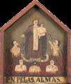 Caixa de esmolas (séc XVIII-XIX) com a figura de Nossa Senhora do Carmo diante das almas do Purgatório.png