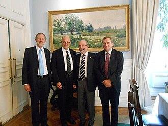 Calán/Tololo Survey - The original team members of the Calan/Tololo Survey. Left to right: Mark M. Phillips, Nicholas Suntzeff, José Maza Sancho, Mario Hamuy, 2012.