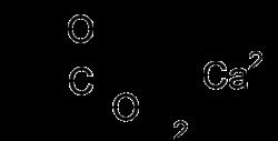 Strukturformel von Calciumformiat