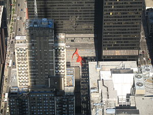 Flamingo (sculpture) - Flamingo as viewed from the Willis Tower skydeck