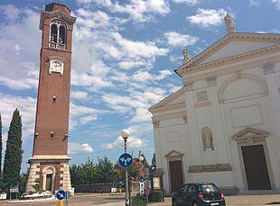 Chiesa di San Giovanni Battista, campanile e facciata