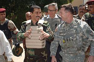 William B. Caldwell - Caldwell walks in Eastern Baghdad in April 2007.