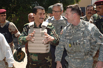 William B. Caldwell - Caldwell walks in Eastern Baghdad in April 2007.