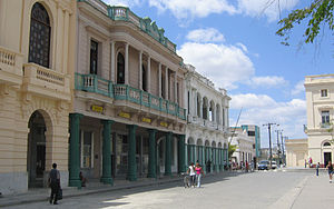 Santa Clara, Cuba - Street in Parque Vidal, the heart of Santa Clara city