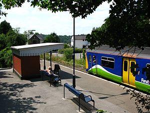 Calstock railway station - A train to Gunnislake