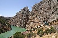 Caminito del Rey, salida sur, desfiladero del Gran Gaitán.jpg