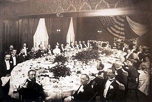 Delmonico's - Dinner in honor of Admiral Campion at Delmonico's in 1906