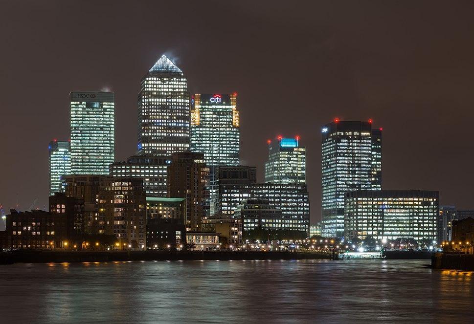 Canary Wharf Skyline 2, London UK - Oct 2012