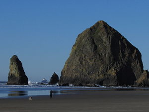 Oregon Coast - Haystack Rock, Cannon Beach, Oregon.