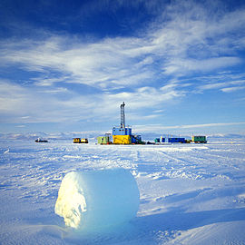 Drill site of CRP on the sea ice, Ross Sea, Antarctica
