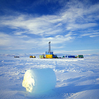 Cape Roberts Project - Drill site of CRP on the sea ice, Ross Sea, Antarctica