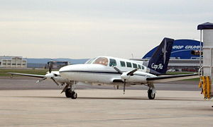 Hagerstown Regional Airport - Cape Air Cessna 402 at HGR in 2009