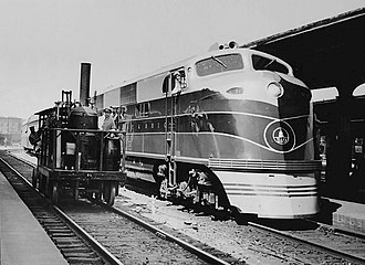 EMD E-unit - Image: Capitol Limited EMD EA and Tom Thumb 1937