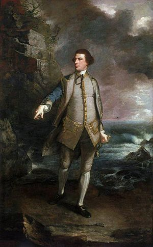 Augustus Keppel, 1st Viscount Keppel - Keppel, by Reynolds, 1752-53, in the pose of the Apollo Belvedere.