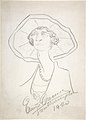 Caricature of a Woman in a Large Hat MET DP808727.jpg