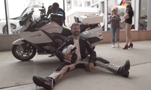 Carl J Reese breaking bike at the BMW Dealer in Manhattan.png