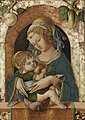Carlo Crivelli - The Madonna and Child at a marble parapet, an apple ad a gourd hanging from a niche behind.jpg