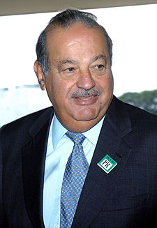 A photo of Carlos Slim Helu, from Mexico, who is number one on the Forbes billionaire list and the world's richest man.