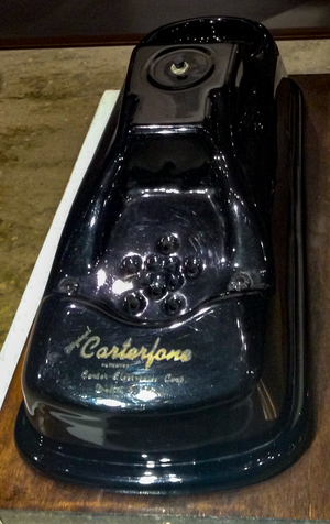 Carterfone - An original 1959 Carterfone made by Carter Electronics, on display at the Computer History Museum