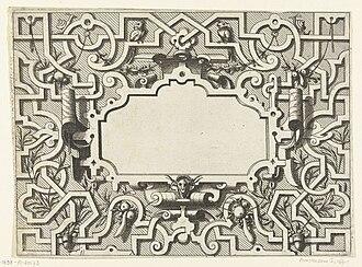 Strapwork - Ornament print, 1550s, Hans Vredeman de Vries