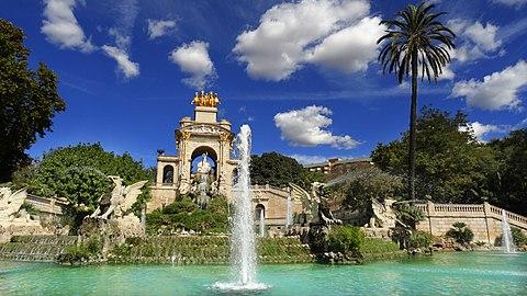 Cascada del Parque de la Ciudadela Barcelona DSC