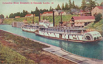 Cascade Locks and Canal - Dalles City and Regulator in Cascade Locks