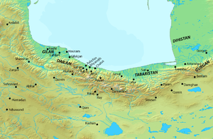 Isma'il ibn Ahmad - Map of northern Iran