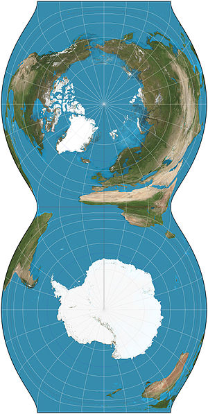 Cassini projection - Image: Cassini projection squashed SW