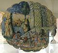Casteldurante, bottega di andrea da negroponte, priamo e tisbe, 1550-65 ca..JPG