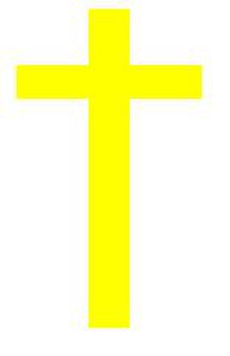 Badge of shame - Cathar yellow cross for radicals