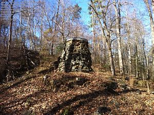 Battle of Chancellorsville - Ruins of Catharine Furnace photographed in 2011