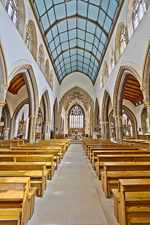 Cathedral Church of St Marie, Sheffield - The nave of the Cathedral Church of St Marie