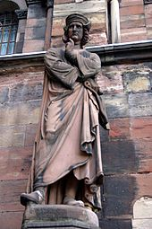Erwin von Steinbach on the facade of the Strasbourg Cathedral