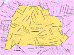 Census Bureau map of Glen Rock, New Jersey