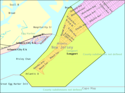 Census Bureau map of Longport, New Jersey
