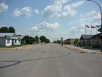 Warman, Saskatchewan - Central Street business district