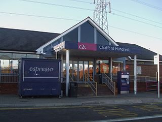 Chafford Hundred Lakeside railway station Network Rail station in Essex, England