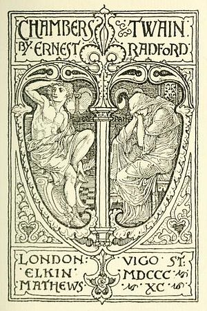 Ernest Radford - Frontispiece by Walter Crane to Chambers Twain (1890)