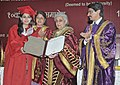 Chandresh Kumari Katoch conferred the degree, at the 10th Convocation of National Museum Institute, in New Delhi on June 03, 2013. The Secretary Culture, Smt. Sangita Gairola is also seen.jpg