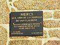 Chapelle Saint Laurent de Plémy - Plaque de remerciement.JPG