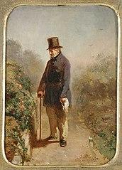 Postuum portret van Hendrik Rochussen, vader van de schilder