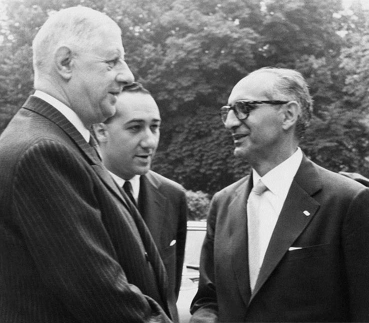 Charles de Gaulle con Arturo Frondizi