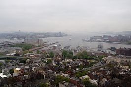Charlestown Navy Yard and Logan Airport from Bunker Hill Monument (7201189510).jpg