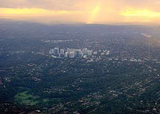 Chatswood, New South Wales - Aerial view of Chatswood and surroundings