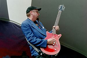Cheap Trick - Guitarist Rick Nielsen performing at Gulfstream Park in 2006.