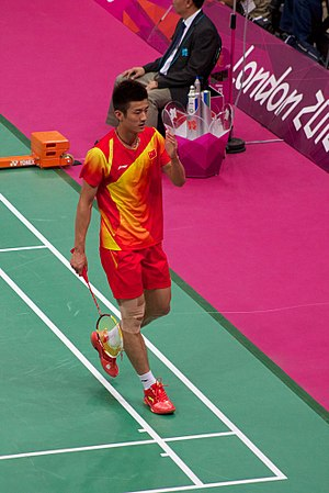 Chen Long - Playing in the semifinals of the 2012 Olympics
