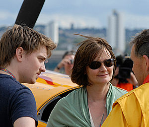 Cherie Blair - Euan (left) and Cherie Blair at the Red Bull Air Race in 2007 in London